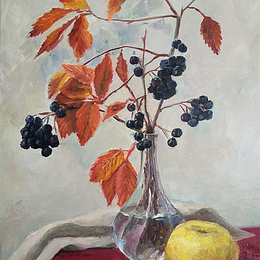 Pictures and panels handmade. Livemaster - original item Oil painting. mood. Still life autumn. Handmade.