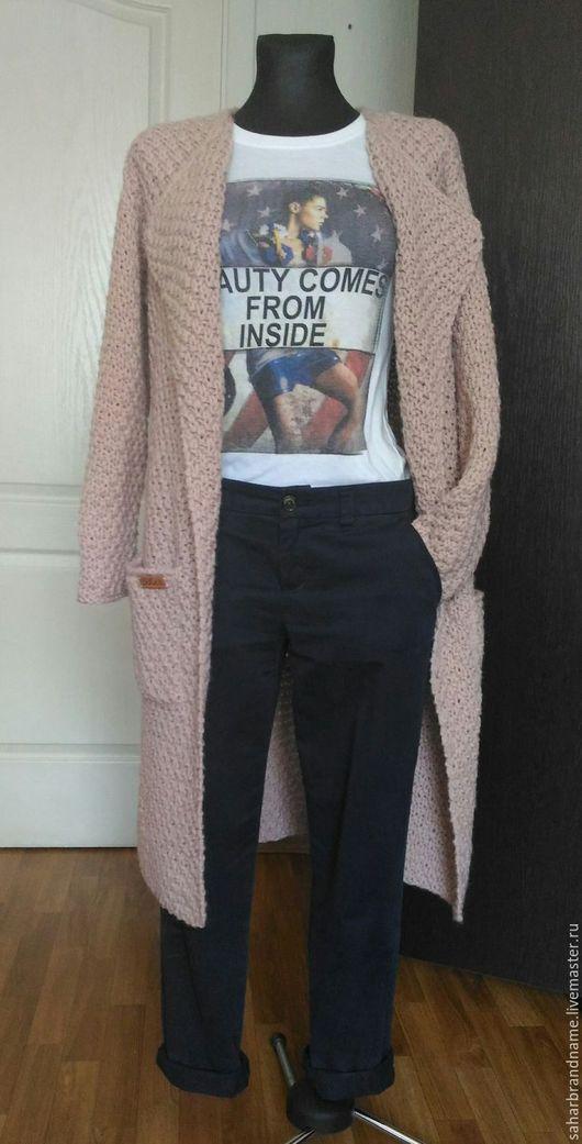 Верхняя одежда ручной работы. Ярмарка Мастеров - ручная работа. Купить Пальто вязаное классическое с карманами ручной работы. Handmade.