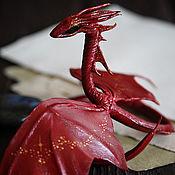 Куклы и игрушки ручной работы. Ярмарка Мастеров - ручная работа Алый дракон - Огнецвет. Handmade.