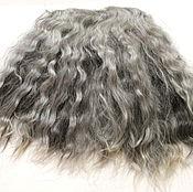 Материалы для творчества handmade. Livemaster - original item Tress mohair (goat skin, grey) Curls Curls for dolls. Handmade.