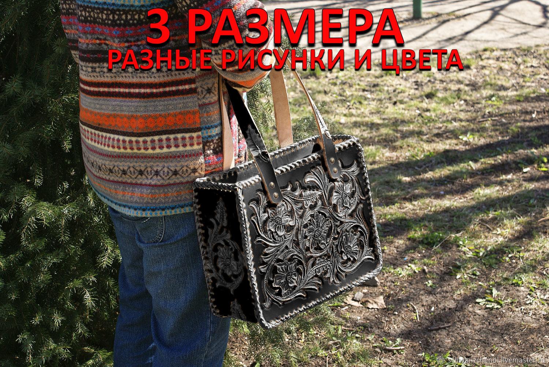 Women's bag 'classic shopper' - black, Tote Bag, Krasnodar,  Фото №1