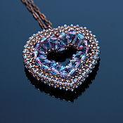 handmade. Livemaster - original item Heart Bead Pendant. Handmade.