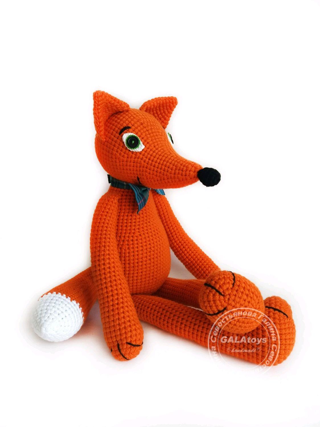 Knitted toy. Fox, Stuffed Toys, Volgograd,  Фото №1