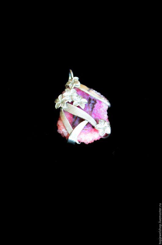 """Кулоны, подвески ручной работы. Ярмарка Мастеров - ручная работа. Купить Подвеска """"Розовое настроение"""". Handmade. Серебряный, цветы, серебро"""