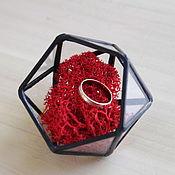 Свадебный салон handmade. Livemaster - original item Glass casket. Box for wedding rings. Handmade.