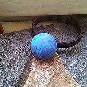 Украшения ручной работы. Ярмарка Мастеров - ручная работа Океан внутри, крупное заметное кольцо-перстень из полимерной глины. Handmade.