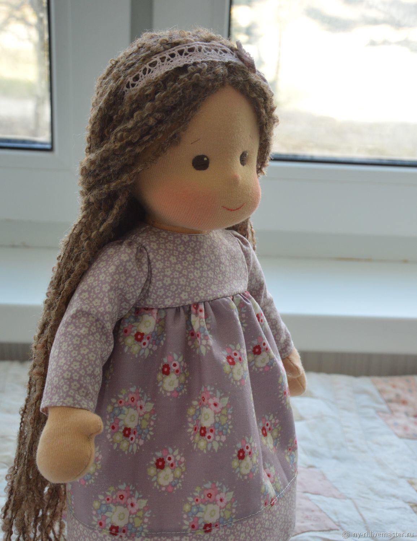 Вальдорфская кукла с длинными волосами, Вальдорфская игрушка, Таруса, Фото №1