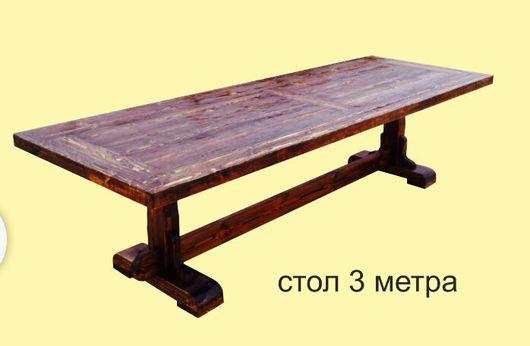 Мебель ручной работы. Ярмарка Мастеров - ручная работа. Купить Стол большой деревянный 3м.. Handmade. Стол, столы