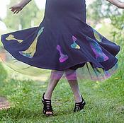 Одежда handmade. Livemaster - original item Felt skirt 17023. Handmade.