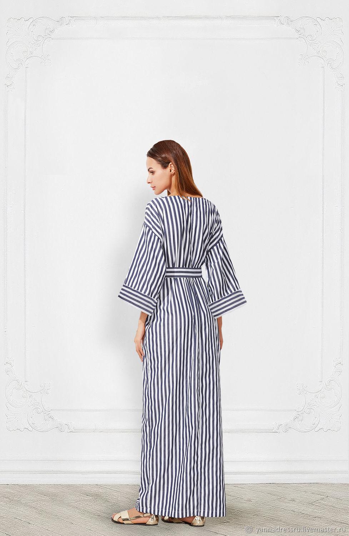 Ярмарка Мастеров - ручная работа. Купить Платье льняное в морском стиле · Платья  ручной работы. Платье льняное в морском стиле