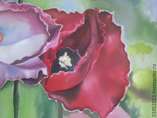 Картины цветов ручной работы. Ярмарка Мастеров - ручная работа. Купить Маки. Handmade. Ярко-красный, луговые цветы, лето