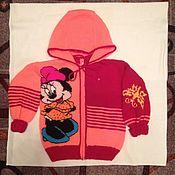 Работы для детей, ручной работы. Ярмарка Мастеров - ручная работа Кофточка с капюшоном для девочки. Handmade.