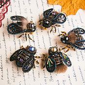Украшения handmade. Livemaster - original item Brooch Black Brooch Fly bug Brooch insect. Handmade.