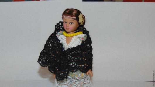 Одежда для кукол ручной работы. Ярмарка Мастеров - ручная работа. Купить кукольная шаль. Handmade. Коллекционная миниатюра, хлопок 100%