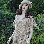 handmade. Livemaster - original item Tunic -mesh crochet jute