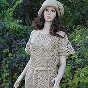 Одежда handmade. Livemaster - original item Tunic -mesh crochet jute