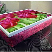 Для дома и интерьера ручной работы. Ярмарка Мастеров - ручная работа Столик-поднос на подушке (с вашей картинкой). Handmade.