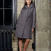 Одежда handmade. Livemaster - original item Insulated coat with a hood with buttons. Handmade.