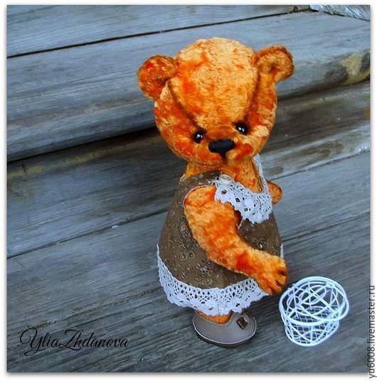Мишки Тедди ручной работы. Ярмарка Мастеров - ручная работа. Купить Рыжуля. Handmade. Рыжий, мишка девочка, плюш винтажный