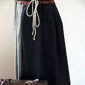 Одежда ручной работы. Ярмарка Мастеров - ручная работа Понёва юбка вседневная из шерстяного твида. Handmade.