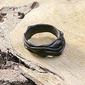Субкультуры handmade. Livemaster - original item Copy of A ring carved of black wood. Handmade.