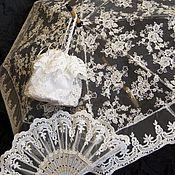 Свадебный салон ручной работы. Ярмарка Мастеров - ручная работа Комплект _25(зонт, веер,сумочка). Handmade.