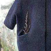 Одежда ручной работы. Ярмарка Мастеров - ручная работа Валяное пальто-кокон Шоколадница. Handmade.