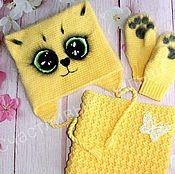 """Работы для детей, ручной работы. Ярмарка Мастеров - ручная работа Комплект для малыша """"Милый котик"""". Handmade."""