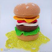Куклы и игрушки handmade. Livemaster - original item Knitted pyramid Hamburger. Handmade.