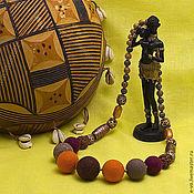 Украшения ручной работы. Ярмарка Мастеров - ручная работа Бусы «Африка». Handmade.