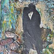 """Картины ручной работы. Ярмарка Мастеров - ручная работа Холст """"Ноктюрн под дождем"""". Handmade."""