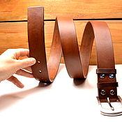 Аксессуары handmade. Livemaster - original item Strap leather made of Buffalo leather ADJUSTABLE. Handmade.