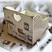 """Короб ручной работы. Ярмарка Мастеров - ручная работа Короб-подставка для кухни - """"Cafe de Paris"""". Handmade."""