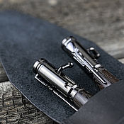 handmade. Livemaster - original item Set of Pen and pencil bullet with bolt in a leather case. Handmade.