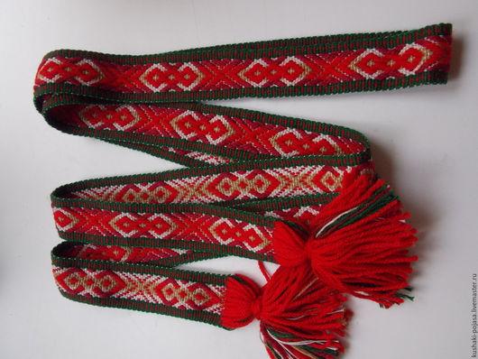 Ткачество ручной работы. Ярмарка Мастеров - ручная работа. Купить традиционный белорусский пояс. Handmade. Комбинированный, праздничный подарок