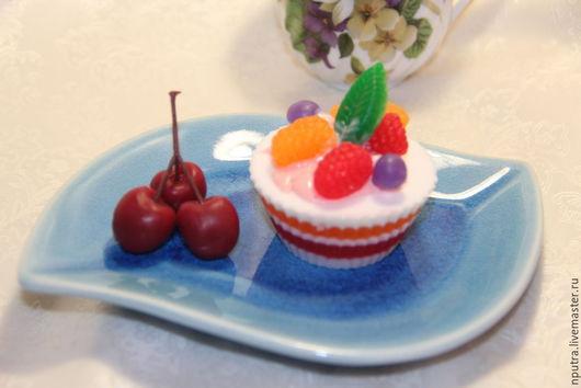 Персональные подарки ручной работы. Ярмарка Мастеров - ручная работа. Купить пирожное из мыла. Handmade. Разноцветный, ароматизатор