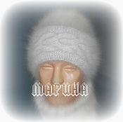 Аксессуары ручной работы. Ярмарка Мастеров - ручная работа ШАПКА  собачий пух. Handmade.