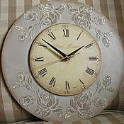 Для дома и интерьера ручной работы. Ярмарка Мастеров - ручная работа Настенные часы Прованс в сером. Handmade.