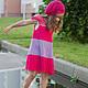 """Одежда для девочек, ручной работы. Ярмарка Мастеров - ручная работа. Купить Платье """"Калинка-малинка"""". Handmade. Розовый, платье для девочки"""