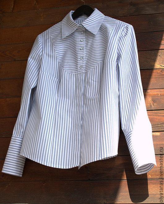 """Блузки ручной работы. Ярмарка Мастеров - ручная работа. Купить Рубашка """"Полосатый день"""".. Handmade. Рубаха, блузка, деловой стиль"""