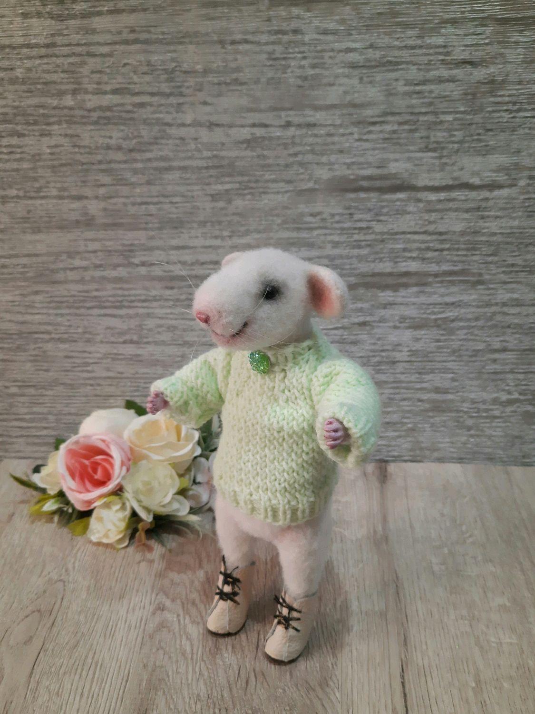 Войлочная игрушка крысик Джон, Мягкие игрушки, Саратов,  Фото №1