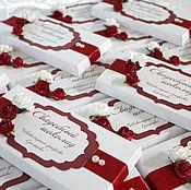Свадебный салон ручной работы. Ярмарка Мастеров - ручная работа ( арт. 0003) Оформление свадебного шоколада. Handmade.