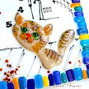 Для дома и интерьера ручной работы. Ярмарка Мастеров - ручная работа часы из стекла, фьюзинг   Томный вечер. Handmade.