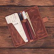 Сумки и аксессуары handmade. Livemaster - original item Travel holder for 4 passports made of Patong leather. Handmade.