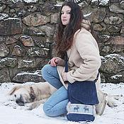 Сумки и аксессуары handmade. Livemaster - original item Shoe bag Norway.Blue bag.Bag suede. Handmade.