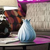 """Для дома и интерьера handmade. Livemaster - original item Ваза """"Zefir Blue M"""". Handmade."""