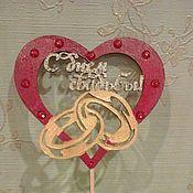 Свадебный салон ручной работы. Ярмарка Мастеров - ручная работа Топпер для свадебного торта. Handmade.