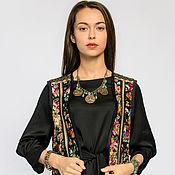 Одежда handmade. Livemaster - original item Vest with flower print and Golden braid (art. 4021). Handmade.