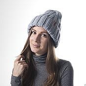 Аксессуары handmade. Livemaster - original item Grey Cozy Knit Hat for Women, Hand Knitting Cloche. Handmade.