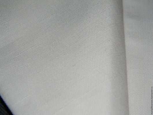 Шитье ручной работы. Ярмарка Мастеров - ручная работа. Купить Ткань п/лен белая. Handmade. Белый, льняные ткани